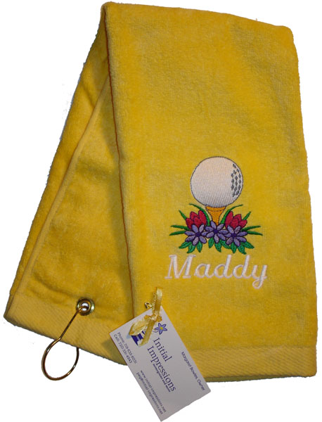 Yellow Golf and Sports Towel