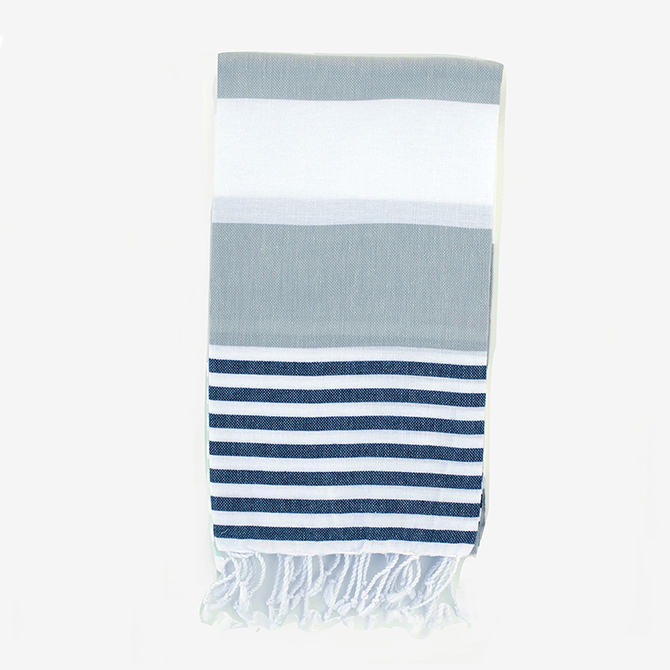 Gray/Black Turkish Boreas Style Towels