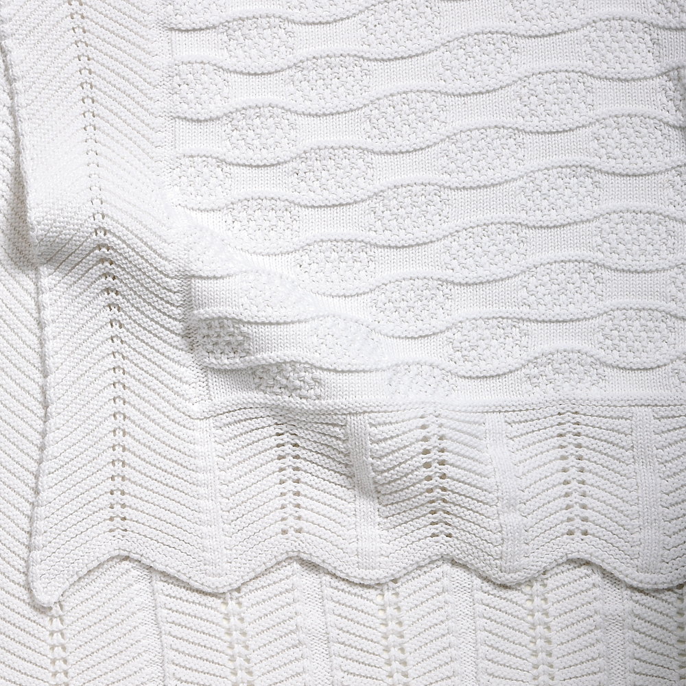 White Cotton Fancy baby blanket