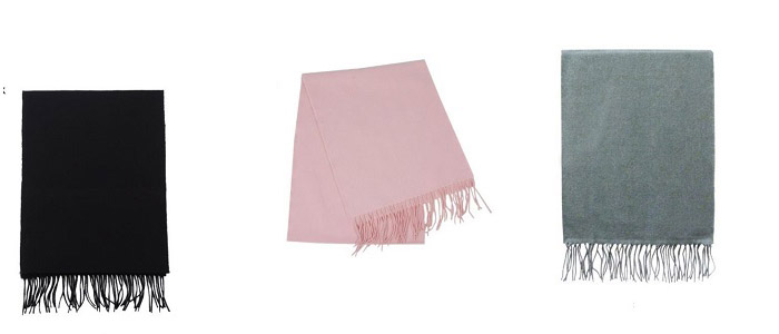 solid color cashmere scarves