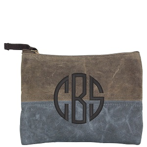 cosmetic bag waxed canvas