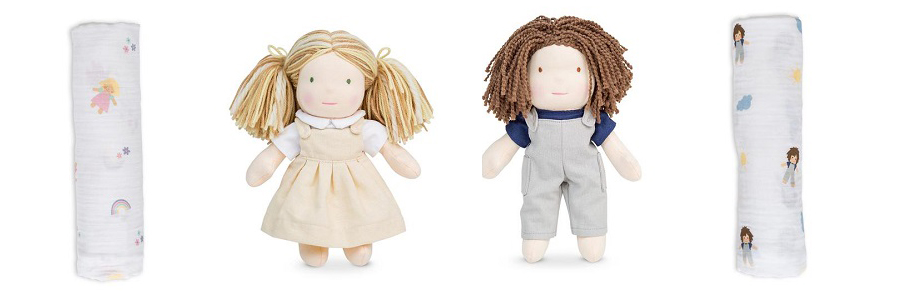 Lulu and Jo Dolls and Matching Muslin